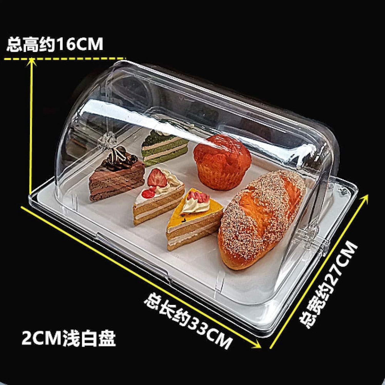 PORCN Plateau de plats froids Plateau présentoir à pain Couvercle de gateau transparent Assiette de fruits Plat de fruits frais Plat froid Buffet froid