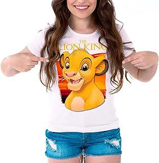 DibuNaif Camiseta Cine Mujer El Rey León, Simba