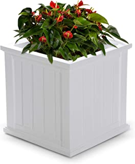 Best white square outdoor planters Reviews