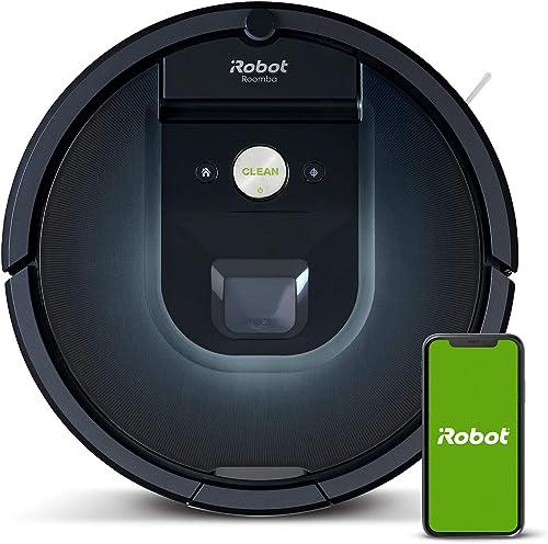 Robot aspirador iRobot Roomba 981 Alta potencia y Power Boost, Recarga y sigue limpiando, Óptimo mascotas, Cepillos a...