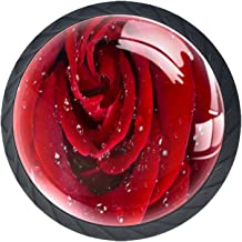Lade handgrepen Pull voor huis keuken dressoir garderobe, rode roos