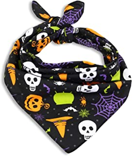 Cackleberry Home Witch's Brew Halloween Cotton Dog Bandana Scarf Accessory