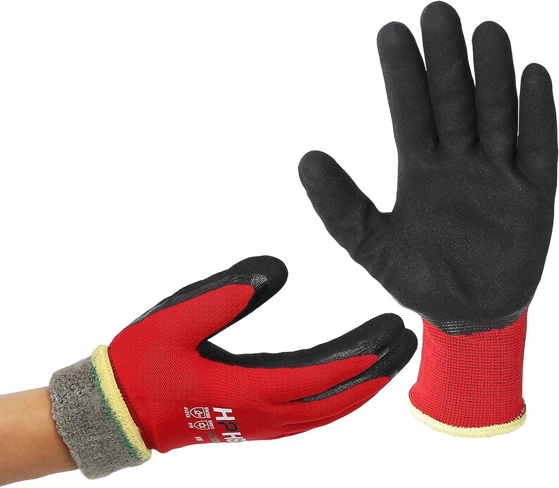 Winter Work Gloves - Double Coated Waterproof Oil-Proof work gloves 1 pair (M)