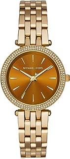 Michael Kors Mini Darci Women's Amber Dial Stainless Steel Band Watch - MK3408