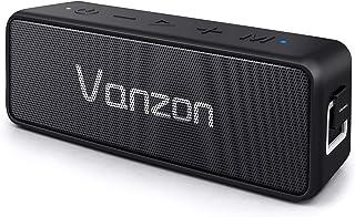 Bluetooth スピーカー Vanzon 20W ワイヤレススピーカー Bluetooth5.0 24時間連続再生 完全ワイヤレスステレオ対応 IPX7防塵防水規格 TWS機能 マイク内蔵 【3時間急速充電 Type-c対応、ワイヤレス、低音強化、マイク搭載、TFカード/AUX線】ブラック