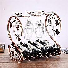 Wine Rack Wine Rack Wine Rack Iron Bottle Goblet Display Cabinet Goblet Home Hanging Cup Holder European Ornaments Indoor ...