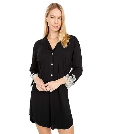 Natori Luxe Shangri-La Sleepshirt (Black) Women