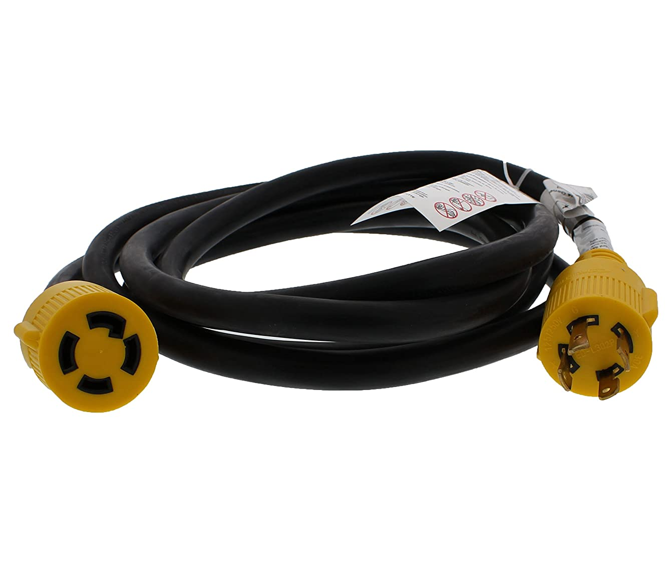 ABN 30 AMP RV Power Cord for Generator & Transfer Switch – 10' Foot Long Reach – 30A Power Cable Camper Power Extension