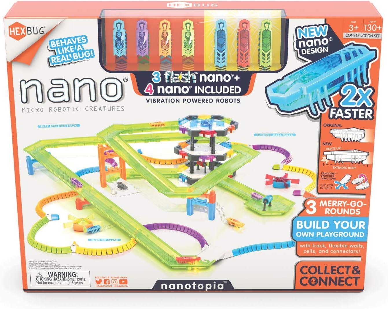HEXBUG Flash Nano nanotopia - Kids Colorful Cheap mail order specialty store Playset for Sensory Spasm price