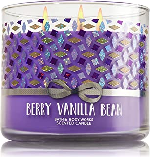 Bath and Body Works White Barn Berry Vanilla Bean 3 Wick Candle 14.5 Ounce