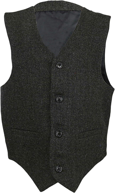Janie and Jack Suit Vest - 12 - Grey
