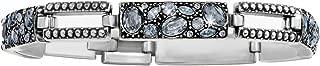 Trust Your Journey Blue Swarovski Crystal Bracelet