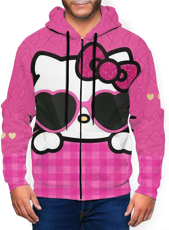 Men's Zipper Hoodie Full Long Sleeve Jacket Printed Lightweight Pullovers Tops Sweatshirt-