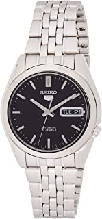 Seiko Men's SNK361 Stainless Steel Analog with Black Dial Watch