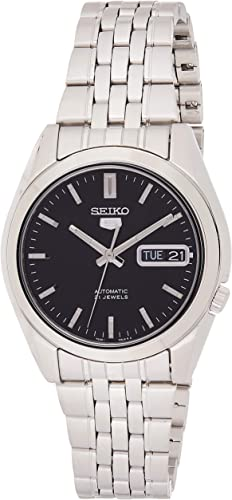 Amazon.com: Seiko Men's SNK361 Stainless Steel Analog with Black Dial Watch  : Seiko: Clothing, Shoes & Jewelry