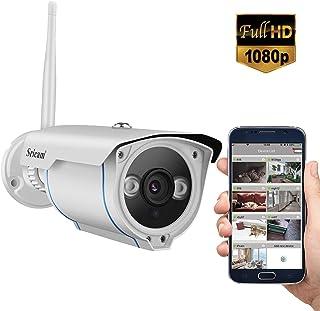 Sricam Cámaras de Vigilancia WiFi Interior 1080P HD Cámara IP Intercomunicador bidireccional Visión Nocturna Detección de Movimiento Monitor para casa bebé y Mascotas Compatible con iOS Android