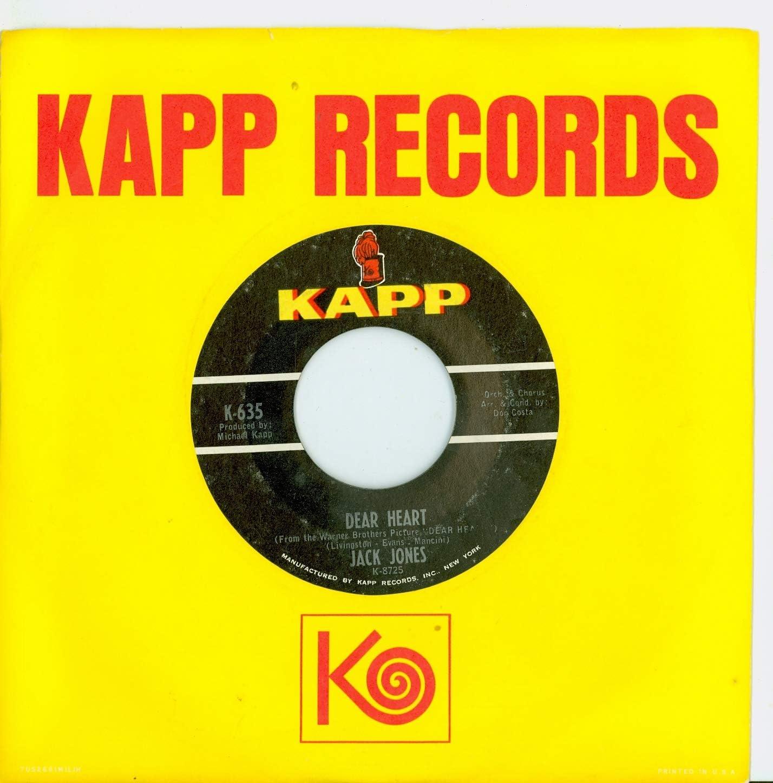 Dear Heart Emily - Jack Jones Very popular OFFicial shop Kapp to Near-Mint 1964 Records