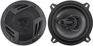 "Pair Rockville RV5.3A 5.25"" 3-Way Car Speakers 600 Watts/100 Watts RMS CEA Rated"