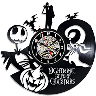 Everyday Arts The Nightmare Before Christmas Disney Movie Wall Clock Idea for Adults Youth Children Family Members Gift