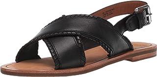 FRYE Women's Robin Feather Criss Cross Flat Sandal