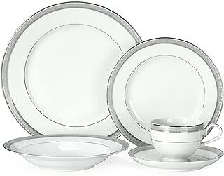 Mikasa 5224199 Platinum Crown 40-Piece Dinnerware Set, Service for 8