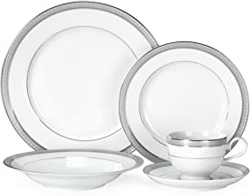 Mikasa Platinum Crown 40-Piece Dinnerware Set, Service for 8