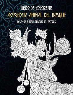 Acogedor animal del bosque - Libro de colorear - Diseños para aliviar el estrés