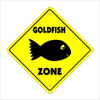 Goldfish Crossing Sign Zone Xing | Indoor/Outdoor | 12