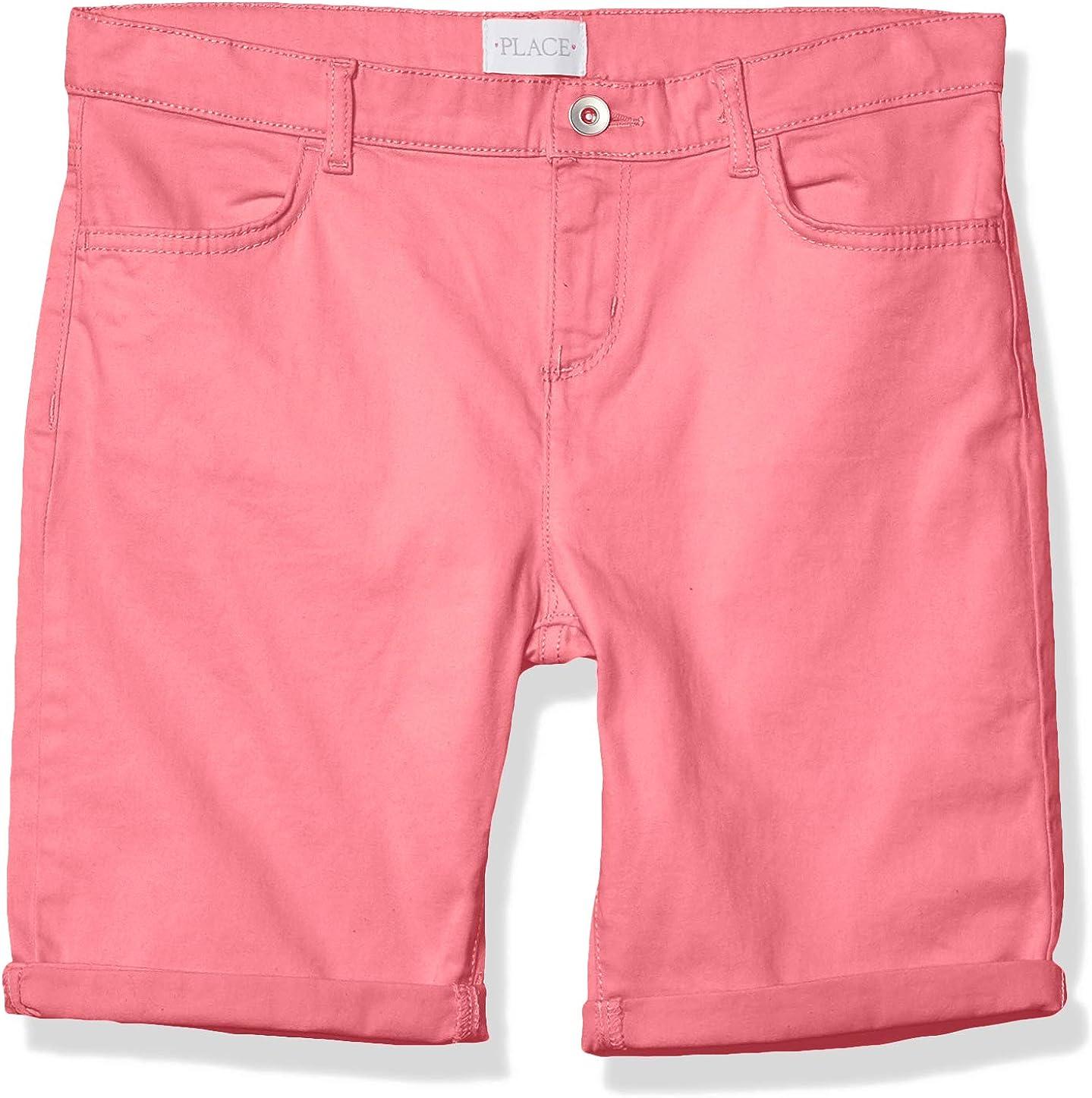 The Children's Place Girls' Roll Philadelphia Mall Bargain Cuff Denim Shorts Skimmer