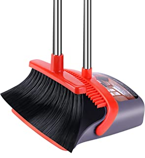 Broom and Dustpan Set Dust Pan with Long Handle Small Broom with Dustpan Combo Set Dust Pans with Brush Kitchen Broom Dust...