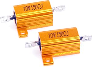 LM YN 10 Watt 150 Ohm 5% Wirewound Resistor Electronic Aluminium Shell Resistor Gold for Inverter LED lights Frequency Divider Servo Industry Industrial Control 2-Pcs
