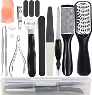 Pedicure Kit, Professional Pedicure Tools, Callus Remover Foot File Manicure Set 15 in 1, Foot Care Kit for Home and Trave...