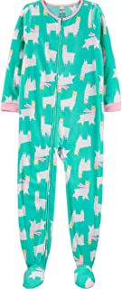 Carter's Big Girls Footed Microfleece Pj's Sleeper Pajamas