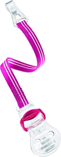 nip Soother Band With Hook, for soothers with ring, 0M+ - Pink