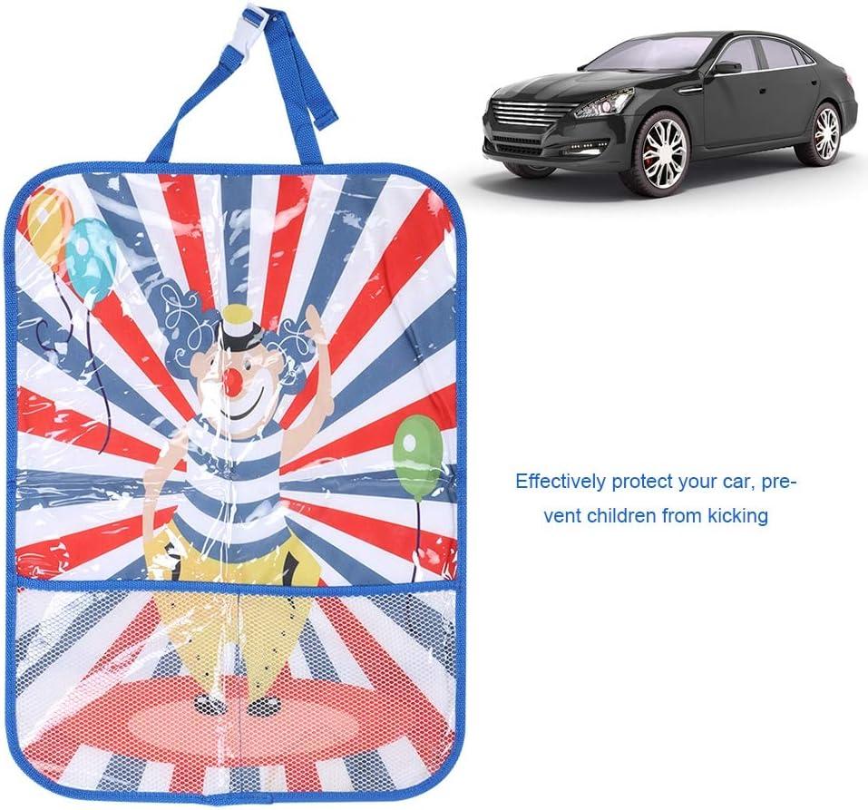 para Bolsa de Almacenamiento Parte Trasera LSAR Patrones de Dibujos Animados Lindos Funda de Asiento de Coche Colorida Asiento Trasero Color-Clown Chair Back Bag Protector de Asiento de Coche