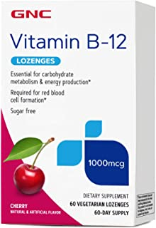 GNC Vitamin B-12 1000 mcg Lozenges - Cherry