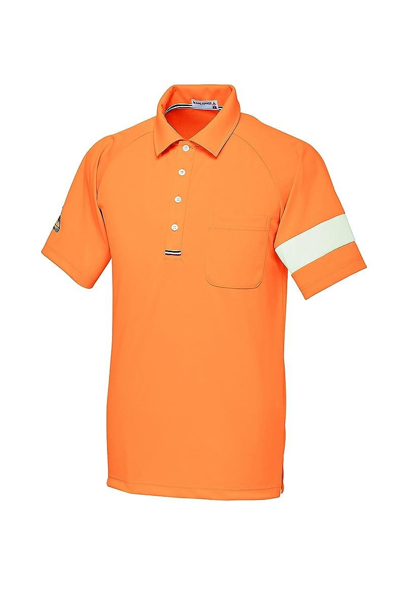 計算報いる合図介護ユニフォーム ニットシャツ 男女兼用 ルコック オレンジ サイズ:LL UZL3041-10
