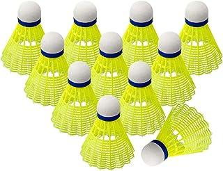 WELLXUNK/® Balle de Badminton Volants en Nylon Plume Balles Badminton en Plastique pour Sportives Int/érieur et Ext/érieur Formation,Divertissement 12 pcs Jeux