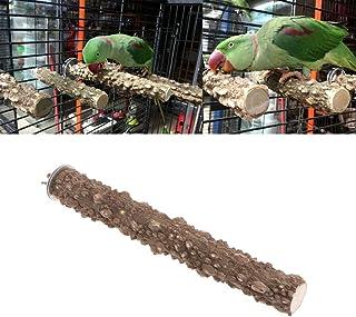 Keersi Natrual Wood Perch Stand Toy for Bird Parrot Budgie Parakeet Cockatiel Conure Lovebird Finch Lovebird Macaw African...