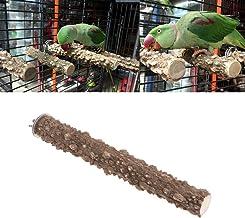 Keersi Natrual Wood Perch Stand Toy for Bird Parrot Budgie Parakeet Cockatiel Conure Lovebird Finch Lovebird Macaw African Grey Cockatoo Cage Platform
