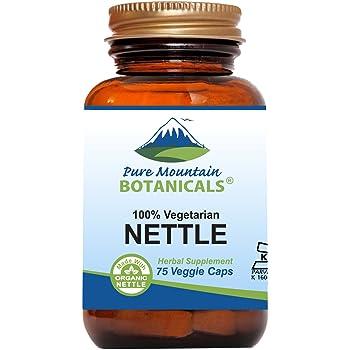 Stinging Nettle Leaf Capsules - 75 Kosher Vegan Caps - Now with 500mg Organic Stinging Nettles Leaf
