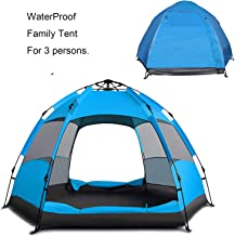 Campingtens Waterproof Family Camping Tent for 2-3 Persons, 4 Seasons Automatic Tent,Instant Setup Double Layer Family Camping Tent for Outdoor Sports Camping Hiking Travel