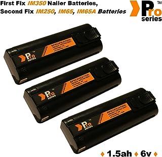 3 x baterías de repuesto 6 V 1.5 Ah (Pro Series) para clavadoras Paslode