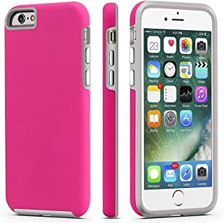 CellEver iPhone 6 / 6s Case, Dual Guard Protective Shock-Absorbing Scratch-Resistant Rugged Drop Protection Cover for Apple iPhone 6 / 6S (Pink)