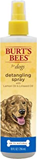 Burts Bees for Dogs Natural Detangling Spray with Lemon & Linseed | Dog & Puppy Fur Detangler