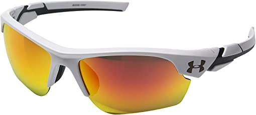 Shiny White/Charcoal Frame/Gray Orange Multiflection Lens
