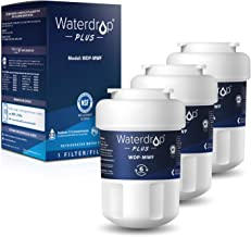 Waterdrop MWF Refrigerator Water Filter, NSF 401&53&42 Certified, Replacement for GE Smart Water MWF, MWFINT, MWFP, MWFA, GWF, HDX FMG-1, GSE25GSHECSS, WFC1201, RWF1060, 3 Filters, Package May Vary