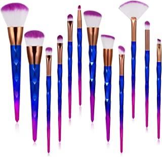 Makeup Brushes,12pcs Premium Synthetic Foundation Makeup Brush Set, Blending Face Powder Blush Concealers Brushes Eye Makeup Brushes Kit for Beginners and Professional Makeup Artists