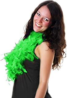 6 ft Feather Boas for Adults' and Kids' St. Patrick's Day Costume Accessory - Green