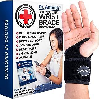 Doctor Developed Premium Copper Lined Wrist Support / Wrist Strap / Wrist Brace / Hand..